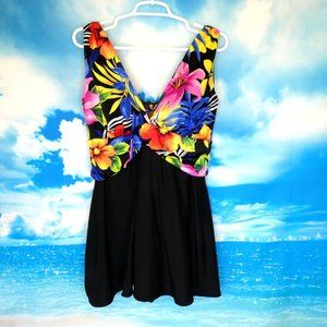 Longitude Women's Tropical Swimsuit Size 18W